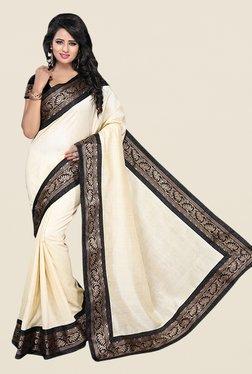 Ishin Cream Banarsi Silk Printed Saree