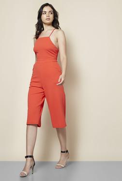 New Look Orange Culotte Jumpsuit