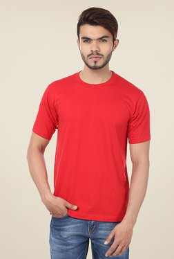 Weardo Red Crew Neck T Shirt