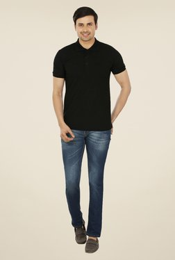 Weardo Black Polo T Shirt