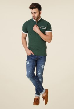 Spunk Olive Pu Patch T-shirt