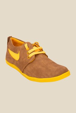 Solester Brown & Yellow Sneakers