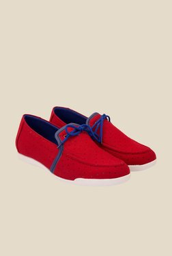 Solester Red & Blue Moccasins
