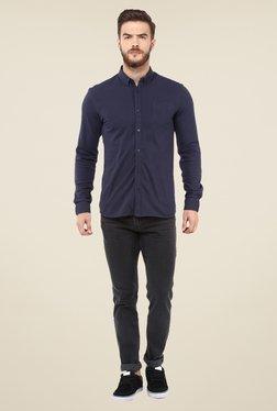 Celio* Navy Solid Shirt