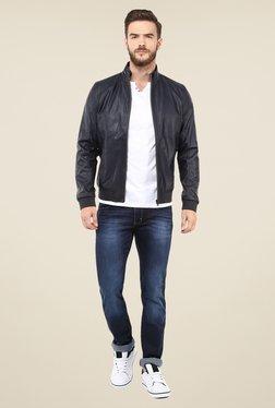 Celio* Navy Solid Jacket