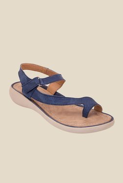 Solester Navy Toe Ring Sandals