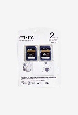 PNY P-SD2GBX2-EF 2GB SD Flash Memory Card (Blue)