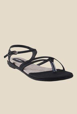 Metro Black Ankle Strap Sandals