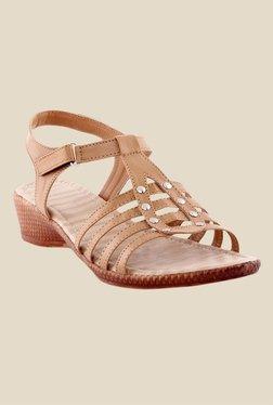 Kielz Beige Ankle Strap Wedges - Mp000000000487888