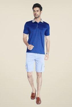 Raymond Blue Solid Short Sleeve T Shirt