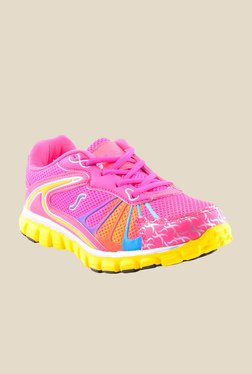 Escan Pink & Yellow Running Shoes