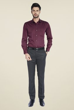 ColorPlus Maroon Solid Shirt