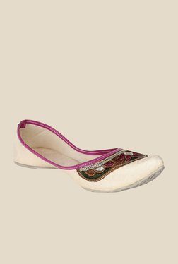 Sassily Beige & Pink Jutti Shoes