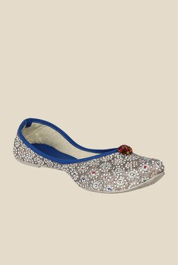 Sassily Golden & Blue Jutti Shoes