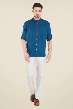 ColorPlus Teal Solid Shirt