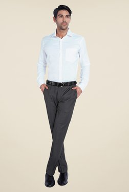 Park Avenue Dark Grey Solid Trouser