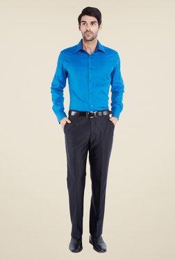 Park Avenue Navy Solid Trouser - Mp000000000494805