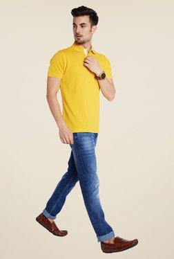 Parx Yellow Solid T Shirt