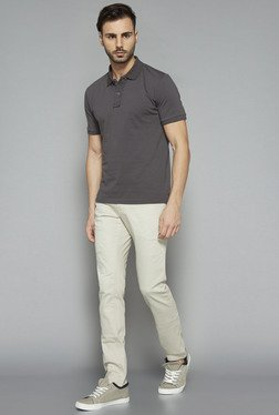 Nuon by Westside Grey Slim Fit Polo T Shirt