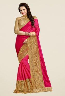 Triveni Amazing Magenta Silk Saree