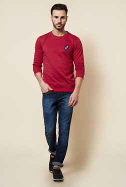 Zudio Red Solid Pullover