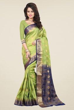 Triveni Classy Green Nylon Art Silk Saree