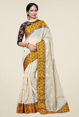 Triveni Elite Cream Chanderi Silk Saree