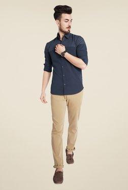 Parx Navy Solid Shirt