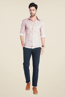 Park Avenue Pink Printed Shirt