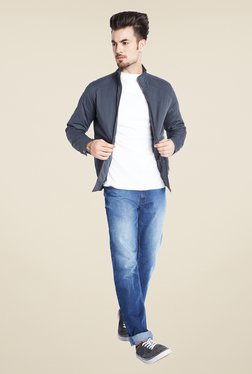 Parx Navy Solid Jacket