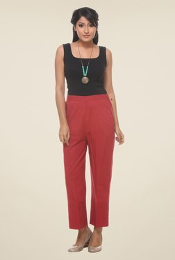 9rasa Red Solid Pants