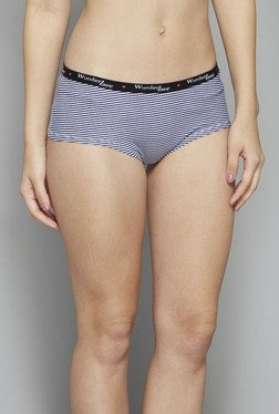Wunderlove by Westside White Striped Brief