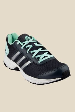 Adidas Adisonic Black & Green Running Shoes