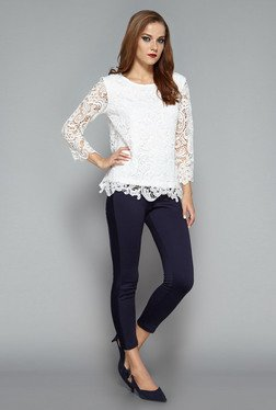 Wardrobe by Westside White Mirage Blouse