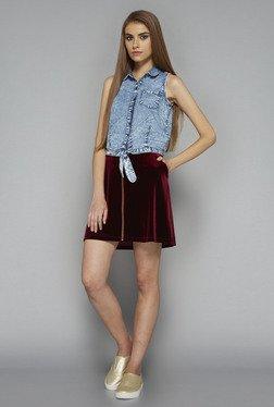 Nuon By Westside Dark Wine Brook Skirt