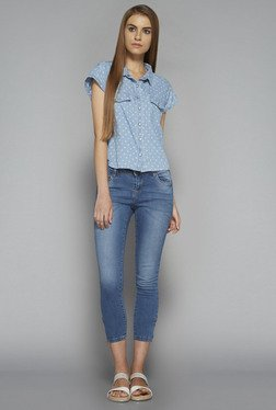 Nuon by Westside Blue Chloe Blouse