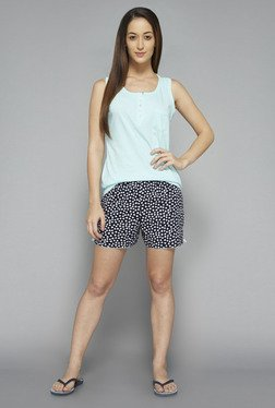 Intima by Westside Navy & Sky Blue Heart Print Shorts Set
