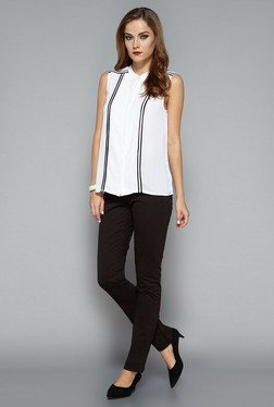 Wardrobe by Westside White Arch Blouse