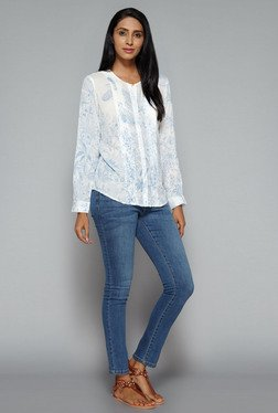 LOV by Westside White Chayenne Blouse