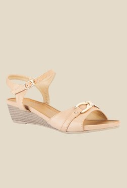 Tresmode Beige Ankle Strap Wedges - Mp000000000507579