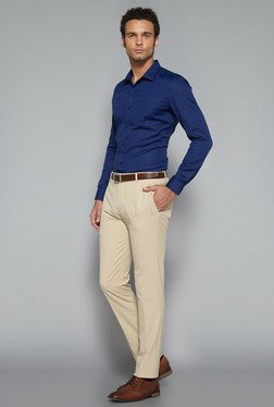 Weststreet by Westside Beige Ultra Slim Fit Trouser