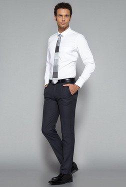 Weststreet By Westside Grey Ultra Slim Fit Trouser