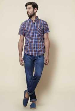 Zudio Navy Slim Fit Shirt - Mp000000000506439