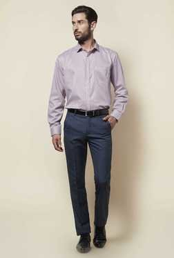 Zudio Dark Blue Slim Fit Trouser
