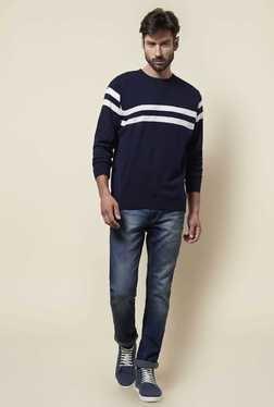 Zudio Navy Knit T Shirt