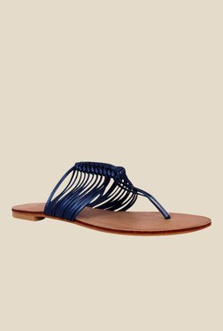 Notion Gloria Navy T-Strap Sandals