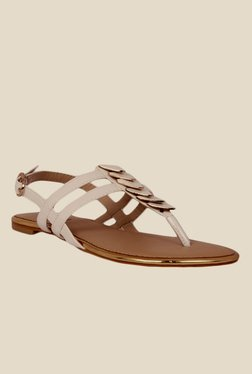 Notion Greta White Back Strap Sandals