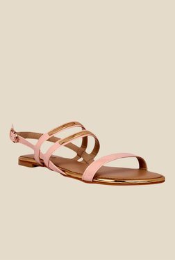 Notion Giuliana Pink & Golden Back Strap Sandals
