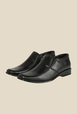 Shoe Bazar Black Formal Slip-Ons