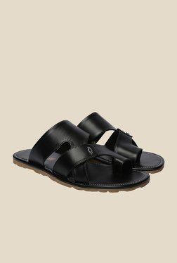 Shoe Bazar Black Flat Sandals